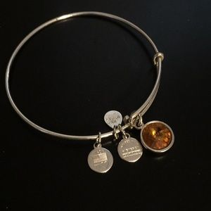 Alex and Ani birth stone charm bangle